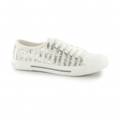 JUMPIN - SUNRISE Ladies Lace Up Trainers Silver