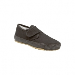 Junior Touch Fastening Plimsolls Black