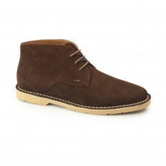 Kickers KANNING Mens Suede Chukka Boots Dark Brown