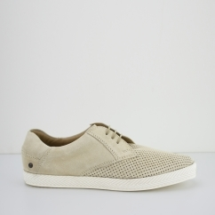 Base London KEEL Mens Suede Casual Shoes Beige