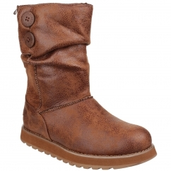 Skechers Keepsakes Esque Ladies Long Boots Chestnut