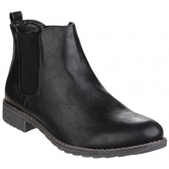 KELLY Ladies Pull On Chelsea Boots Black