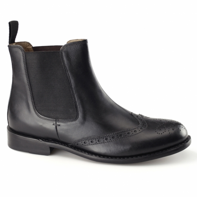 Kensington WESLEY Mens Goodyear Welted Chelsea Boots Black