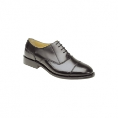 WILSON Mens Leather Lace Up Oxford Shoes Black
