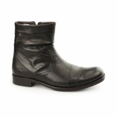 KEYSTONE RUSTIC Mens Leather Zip Biker Boots Moss