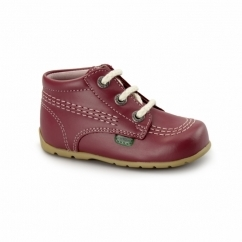 KICK HI Babies Leather Boots Pink