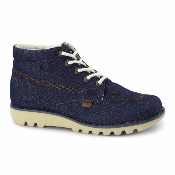 Kickers KICK HI DENIM Mens Ankle Boots Blue - Limited Edition