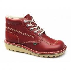 KICK HI Mens Leather Boots Red
