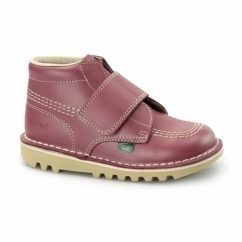 KICK KILO Kids Leather Velcro Boots Blossom