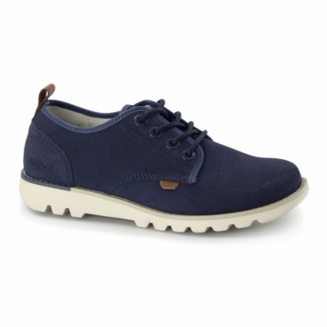 Kickers KICK LO SUMA Mens Lace Up Shoes Blue