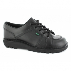 KICK LO TOE Mens Leather Shoes Black