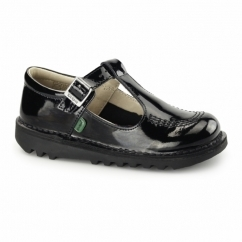KICK T Girls Patent Leather Shoes Black