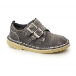 Kickers ADLAR MONK DSTRAP Kids Leather Double Monkstrap Shoes Grey