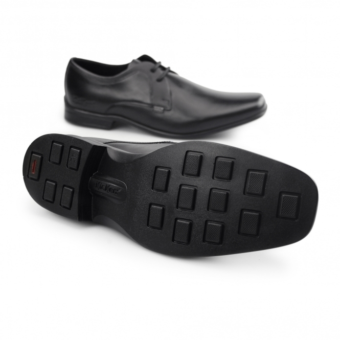 cd9476db367f2 Kickers FEROCK LACE 2 Mens Leather Derby Smart Shoes Black | Shuperb