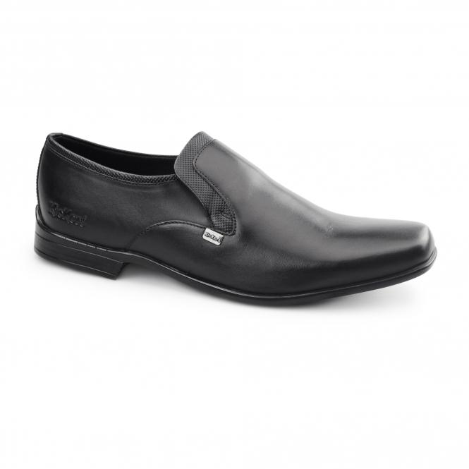 61e81dbd02d5 Kickers FEROCK SLIP 2 Mens Leather Slip On Shoes Black