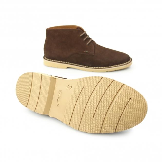 KANNING Mens Suede Chukka Boots Dark Brown