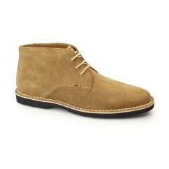 KANNING Mens Suede Chukka Boots Tan