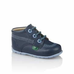 KICK HI Babies Leather Boots Blue