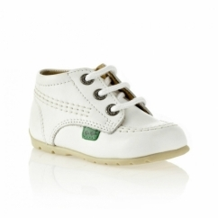 KICK HI Babies Leather Boots White