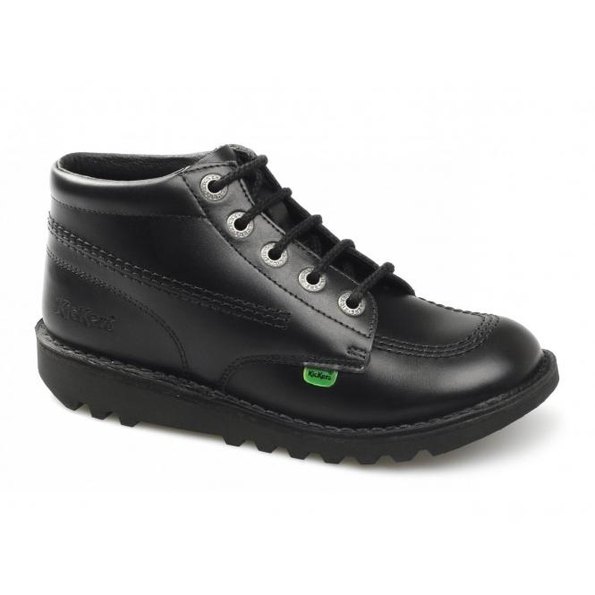 9673ee17 Kickers KICK HI Boys/Girls School Boots Black | Shuperb