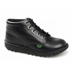 KICK HI Kids Leather Boots Black