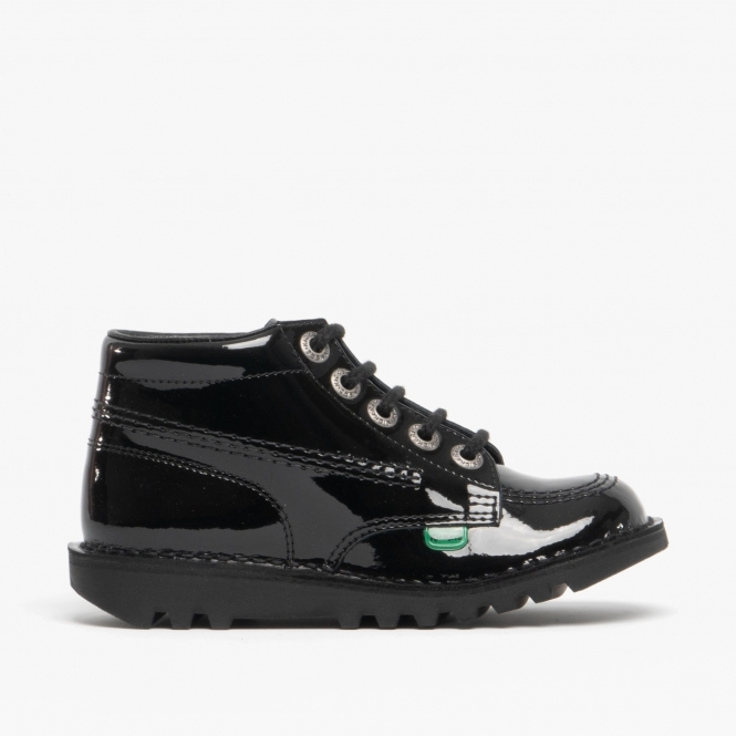 04a27d92ad8e4 Kickers KICK HI Youth Kids Patent Leather Boots Black | Shuperb