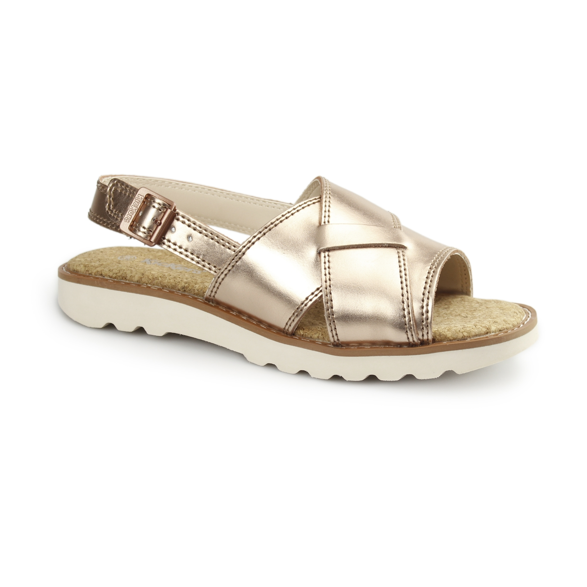 Sandals Kick Lite Kickers Weave Metallicgold Ladies kXZuiP