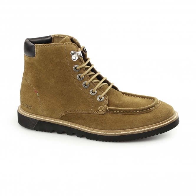 Kickers KWAMIE BOOT Mens Suede Moccasin Boot Tan