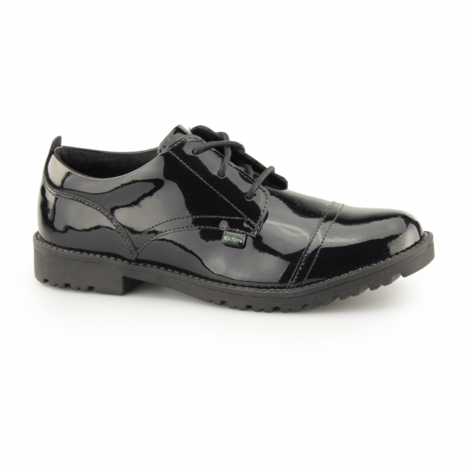 a4decd087cabe LACHLY LACE Girls Leather Shoes Patent Black