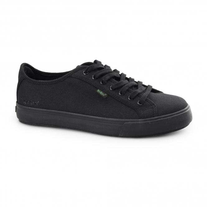 b1f8d02ac1f4 Kickers TOVNI LACER Mens Canvas Textile Trainers Black | Shuperb