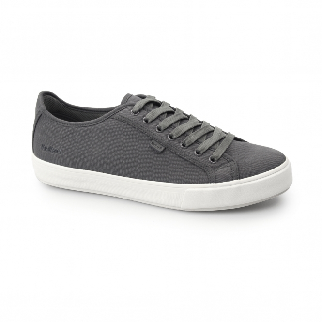 1f92d5c4b802 Kickers TOVNI LACER Mens Canvas Trainers Dark Grey | Shuperb