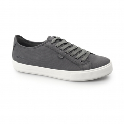 Kickers TOVNI LACER Mens Canvas Trainers Dark Grey