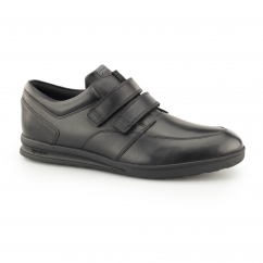 TROIKO STRAP Boys Leather Shoes Black