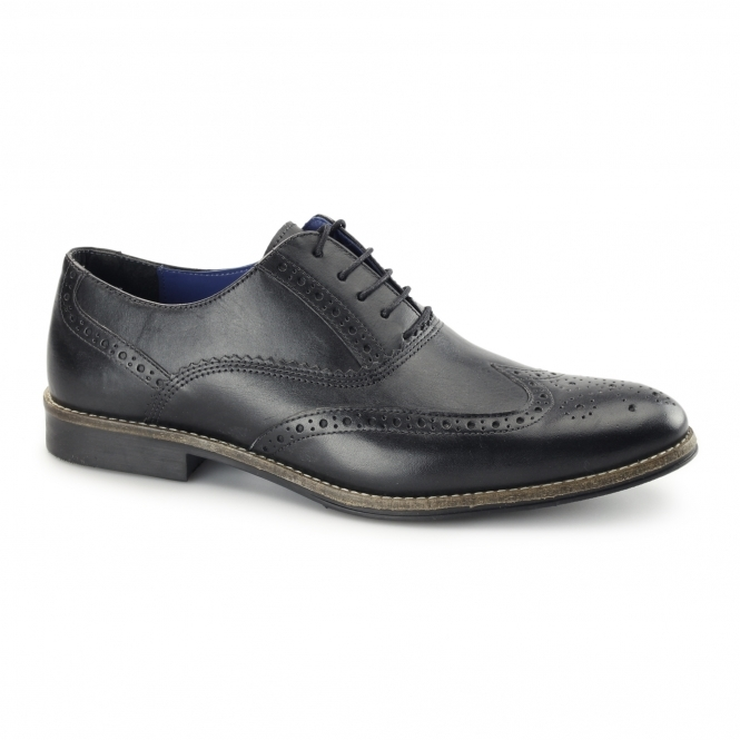 Red Tape KILDARE Mens Leather Oxford Brogues Black