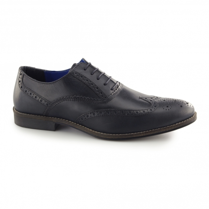 Red Tape KILDARE Mens Leather Oxford Brogues Navy