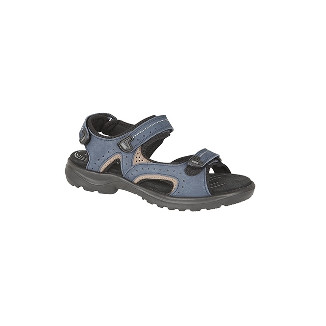 Mod Comfys KIRSTY Ladies Velcro Nubuck Sports Sandals Navy