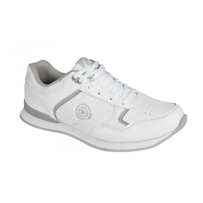 DEK KITTY Ladies Lace Up Bowling Shoes/Trainers White/Grey