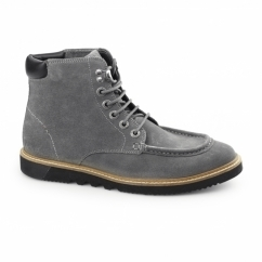 KWAMIE BOOT Mens Suede Moccasin Boot Grey