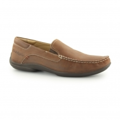 KYLER GLIDE Mens Leather Slip On Loafers Brown