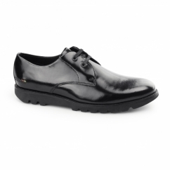 KYMBO LACE Mens Leather Derby Shoes Black