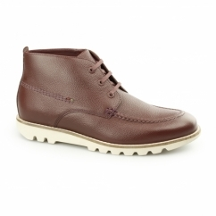 KYMBO MOCC Mens Leather Moccasin Boot Brown