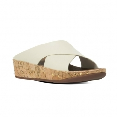 KYS™ Ladies Leather Crossover Sandals Urban White