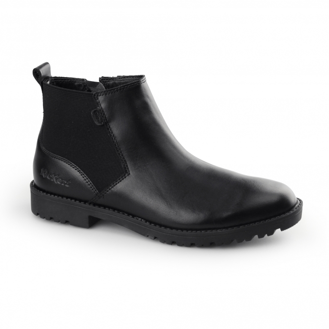Kickers LACHLY CHEL Womens Leather Chelsea Boots Black
