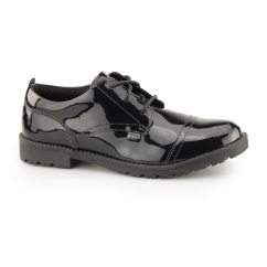 LACHLY LACE Girls Leather Shoes Patent Black
