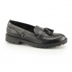 LACHLY LOAFER Girls Leather Tassel Loafers Black