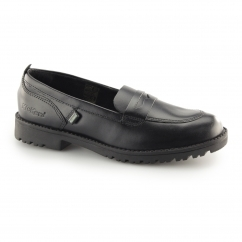 Kickers LACHLY LOAFER Ladies Leather Penny Loafers Black