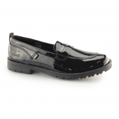 Kickers LACHLY LOAFER Ladies Patent Leather Penny Loafers Black