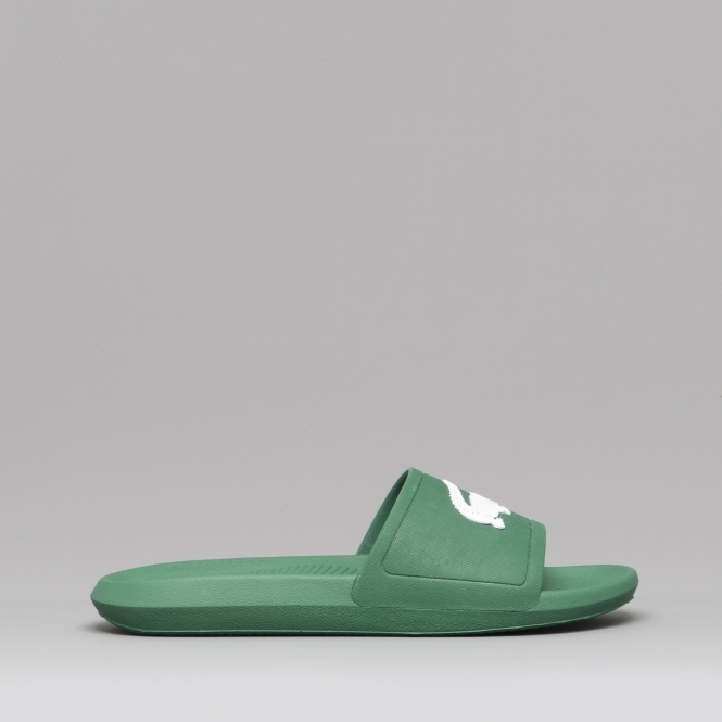 4482ca380 Lacoste CROCO SLIDE 119 1 Mens Sliders Green
