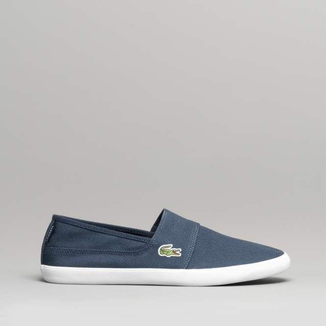 83ed02618f680a Lacoste MARICE BL 2 Mens Canvas Plimsoll Casual Shoes Navy | Shuperb