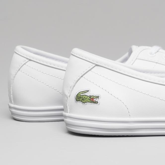 4b26001815cb Lacoste ZIANE BL 1 Ladies Leather Pumps White